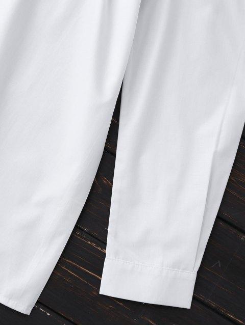 Blouse en popeline à épaules dénudées - Blanc XL Mobile
