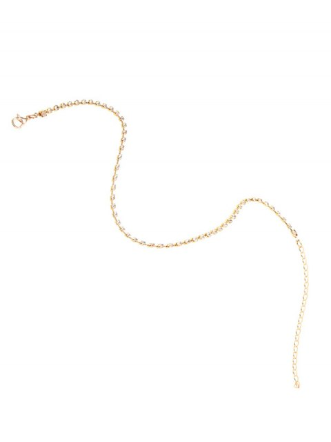 chic Rhinestone Chain Necklace - GOLDEN  Mobile