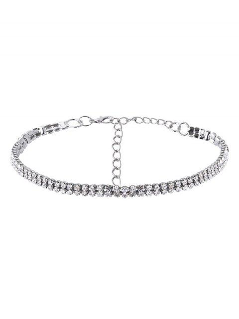 Jeu de colliers de strass à pendants d'étoiles - Blanc  Mobile