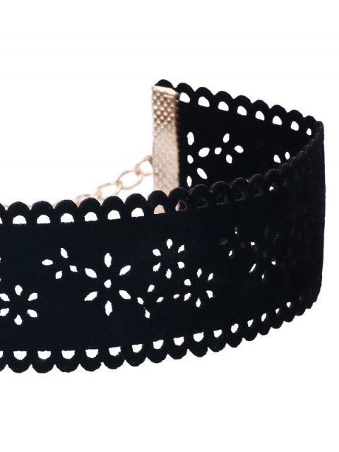 Jeu de colliers en dentelle florale à pendants d'étoiles - Noir  Mobile