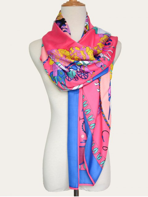 affordable Paris Street Shawl Scarf - SANGRIA  Mobile