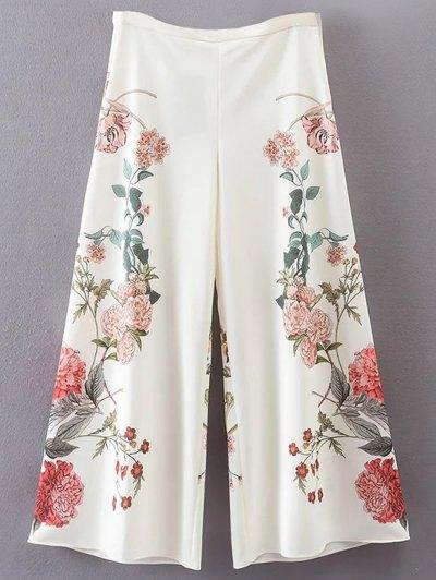الأزهار Culotte سروال - أبيض M