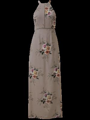 Floral Backless Tie Back Ladder Dress - Cameo