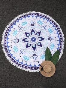 Round Tassel Mandala Tapestry Beach Blanket