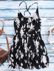 Floral Cross Back Beach Cami Dress