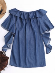 Off The Shoulder Ruffles Mini Dress