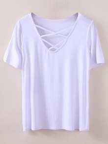Strappy T-Shirt - White S
