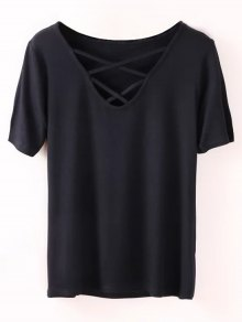 Strappy T-Shirt - Black S