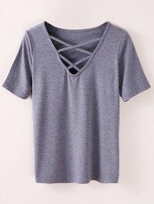 Camiseta Strappy - Ahumado Gris M