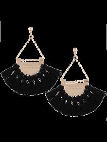 Alloy Triangle Tassel Drop Earrings