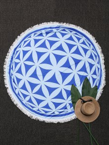 Tassels Patterned Mandala Beach Blanket