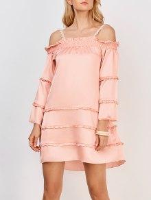 Ruffles Tiered Cami Dress - Pink Xl