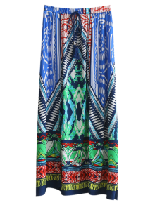 High Slit Printed Maxi Skirt - M