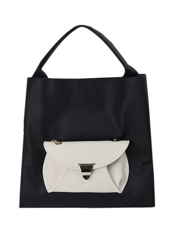 new Tote Bag with Removable Envelope Bag - BLACK