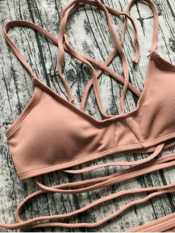 V String Bralette Bikini Set - LATERITE L Mobile