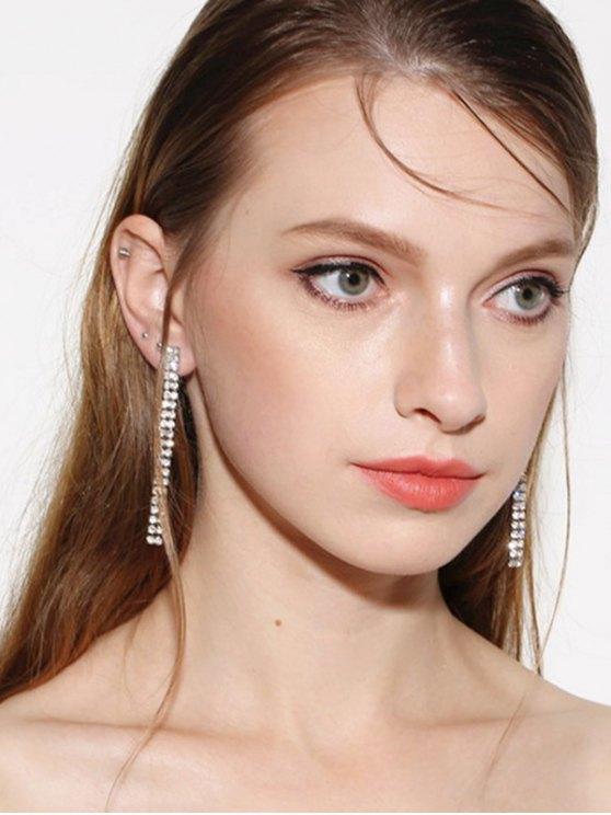 new Zircon Strip Drop Earrings - SILVER
