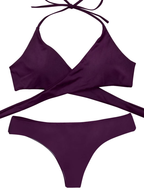 Wrap Bikini Top and Baroque Bottoms - MERLOT S Mobile