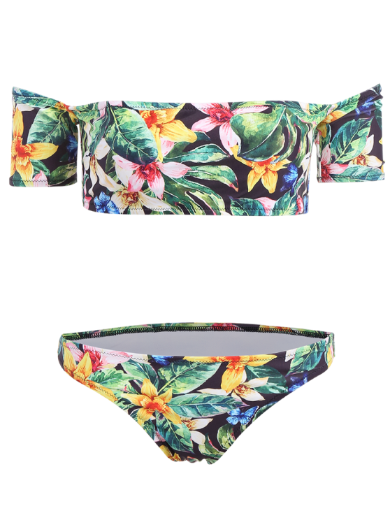 Floral Off The Shoulder Bikini - FLORAL L Mobile
