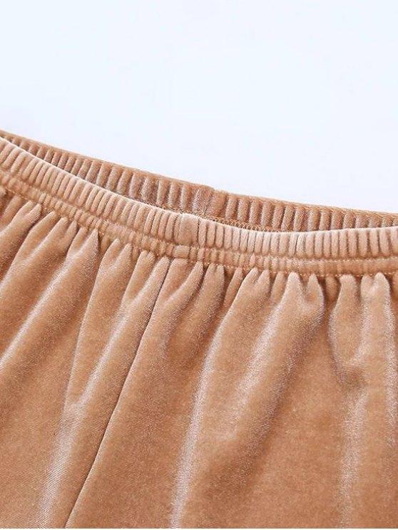 Sporty Velvet Shorts - BLUE M Mobile