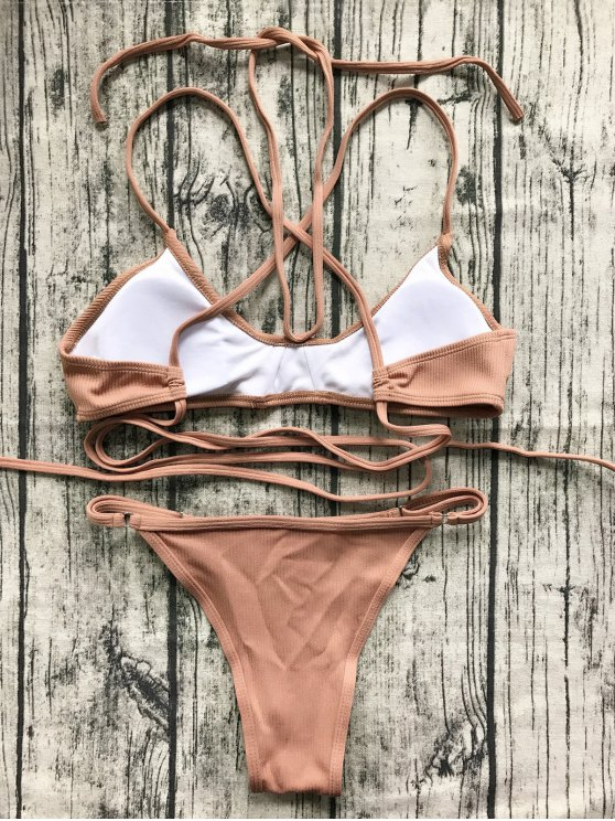 V String Bralette Bikini Set - LATERITE L Mobile