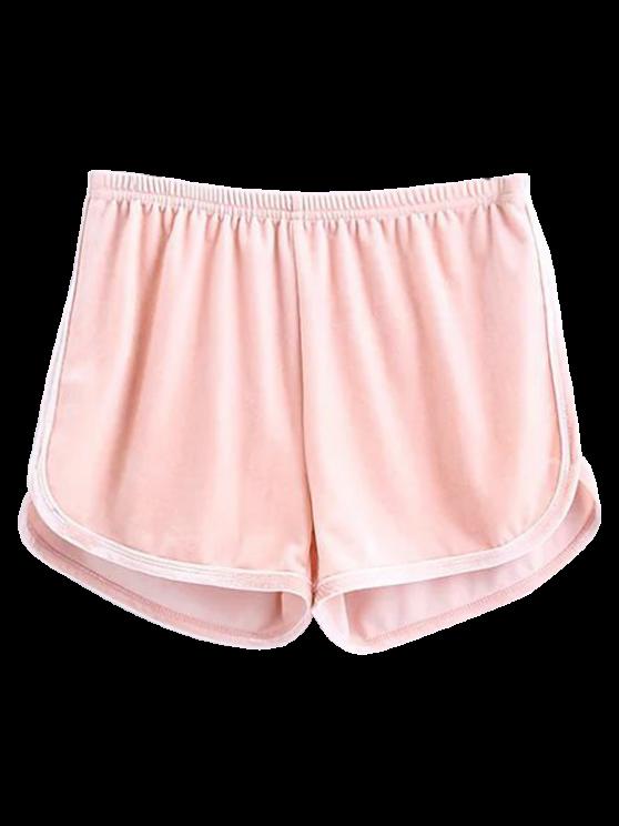 Pantalones cortos de terciopelo deportivo - Rosado Claro M