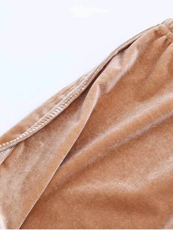 Sporty Velvet Shorts - BURGUNDY S Mobile