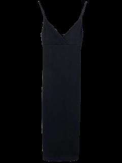 Cami Plunging Neck Surplice Bodycon Dress - Black M