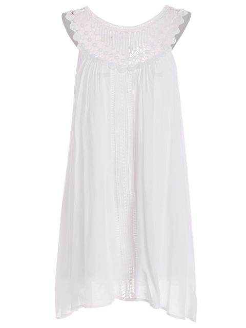 shops Mini Trapeze Summer Dress - WHITE S Mobile