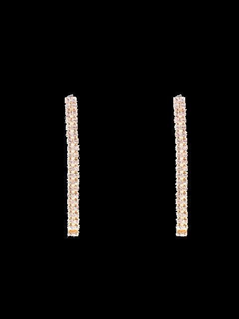 outfits Zircon Strip Drop Earrings - GOLDEN  Mobile