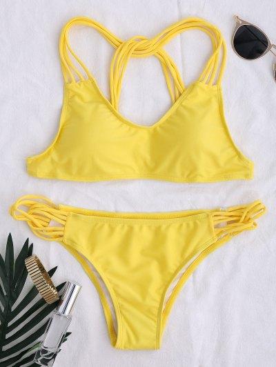 Cami Strappy Bikini Set - Yellow