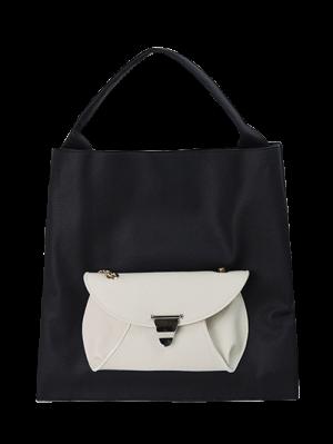 Tote Bag With Removable Envelope Bag - Black