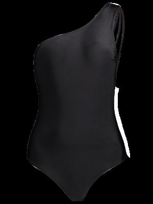 One Shoulder Multiple-Rope Swimwear - Black