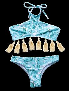 Assortiment De Bikini à Motifs De Feuilles Et Glands - Vert Clair M