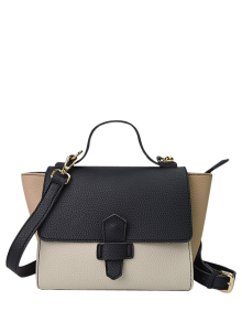 Color Block Winged Handbag - Black