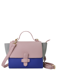 Color Block Winged Handbag