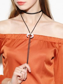 Moon Bolo Tie Choker Necklace