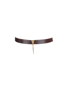 Artificial Leather Bar Choker Necklace