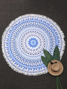 Round Paisley Fringe Beach Throw