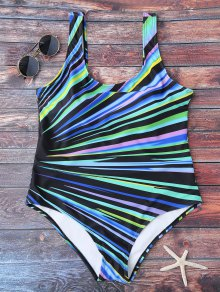 U Neck Color Block Swimwear