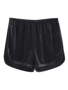 Sporty Velvet Shorts - Black M