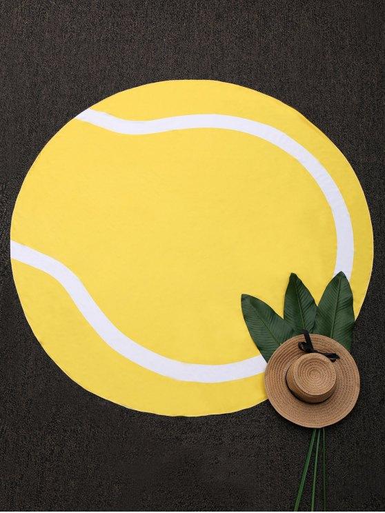 serviette ronde de plage en couleurs jaune accessoires de plage taille moyenne zaful. Black Bedroom Furniture Sets. Home Design Ideas