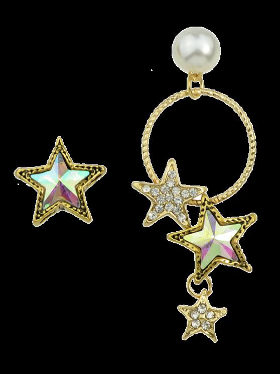 Imitación de la perla asimétrica de estrellas - Dorado