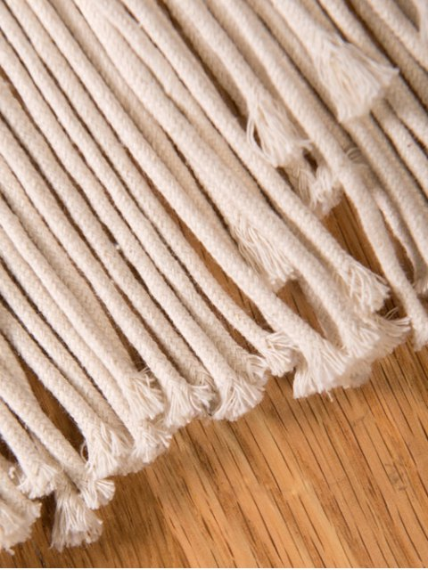 online Fringe Crochet Crossbody Bag - OFF-WHITE  Mobile