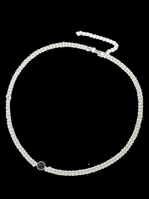 Choker orné de perles formées de chaîne - Argent  Mobile