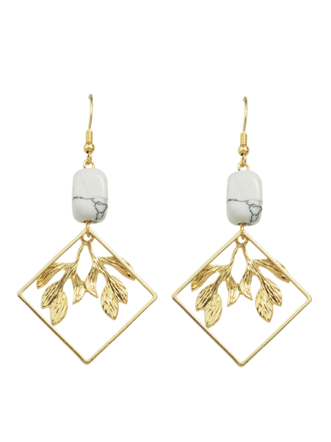 buy Artificial Rammel Geometric Leaf Earrings - GOLDEN  Mobile