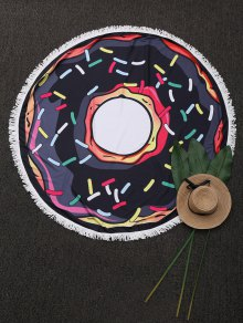 Round Cartoon Fringed Beach Throw