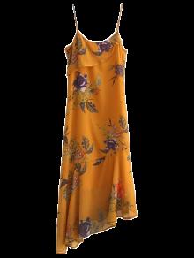 Floral Asymmetric Slip Dress
