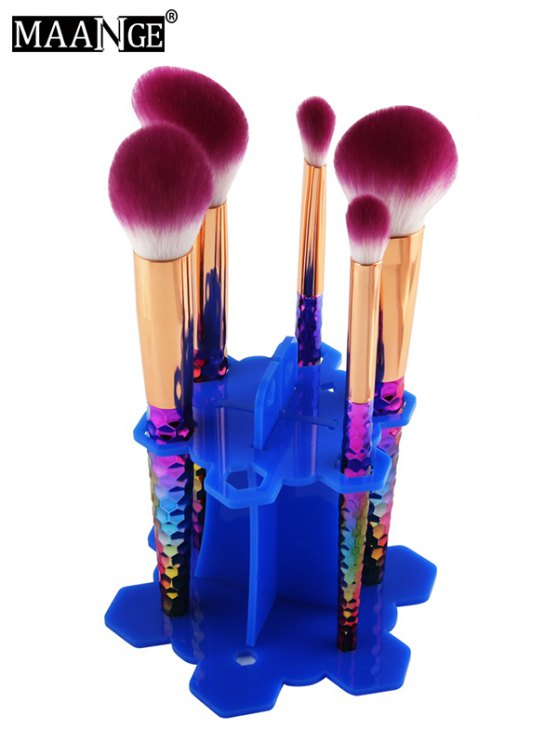 MAANGE Beauty Brush Stand Brush Holder - BLUE  Mobile