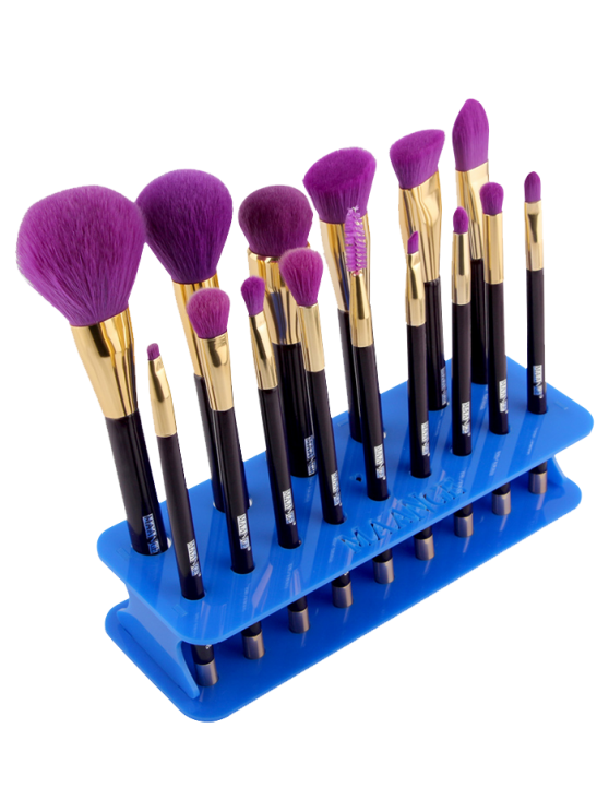 outfit MAANGE Makeup Brush Holder Brush Stand - BLUE