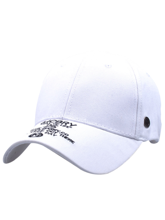 new MCBRY Embroidery Baseball Hat - WHITE